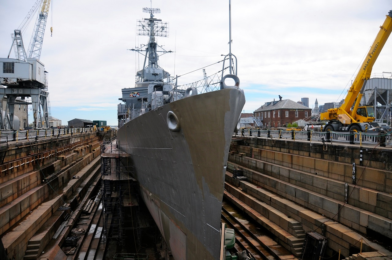 Boat Docked at a Dry Dock