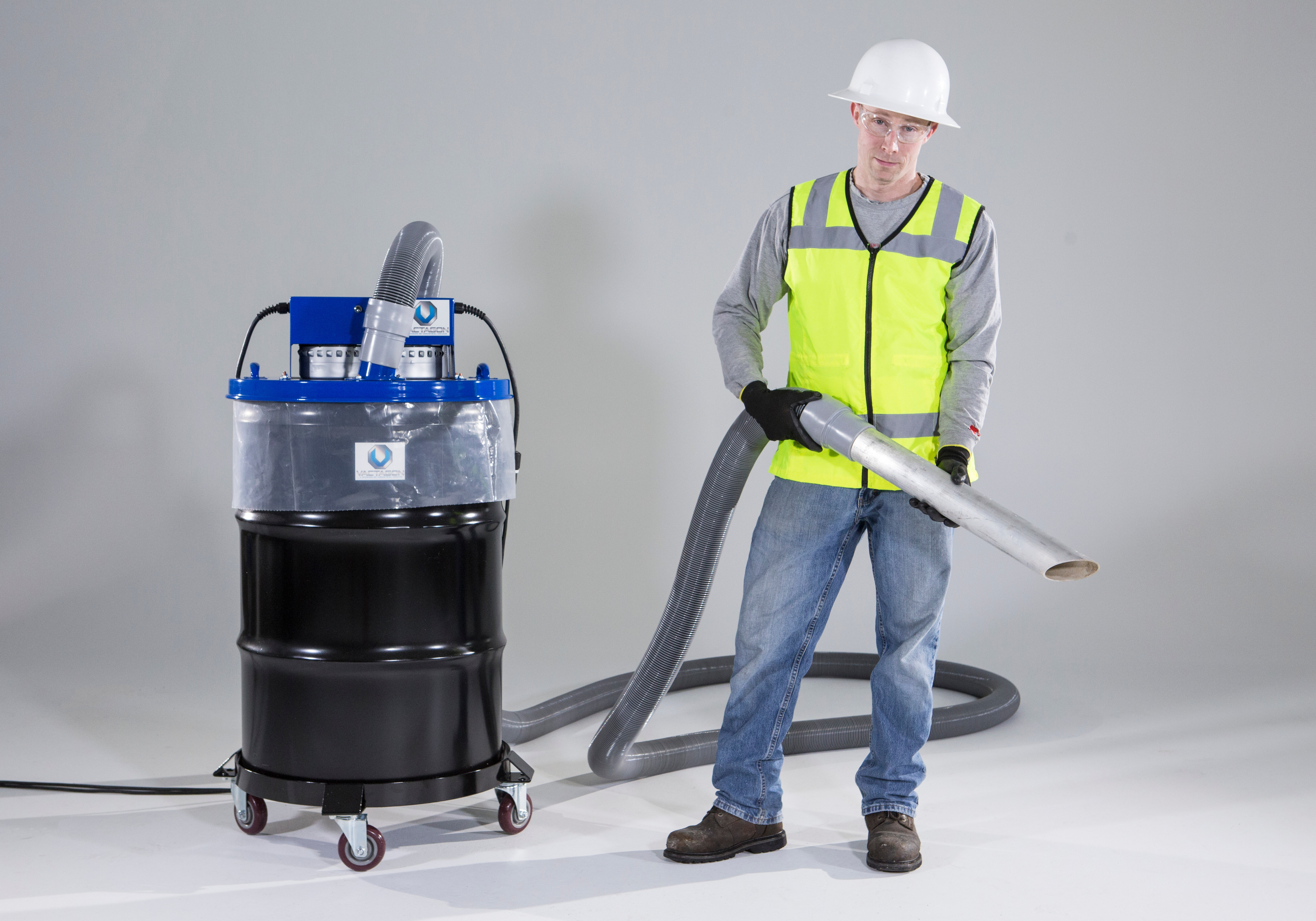 Man with a Drum Top Vacuum