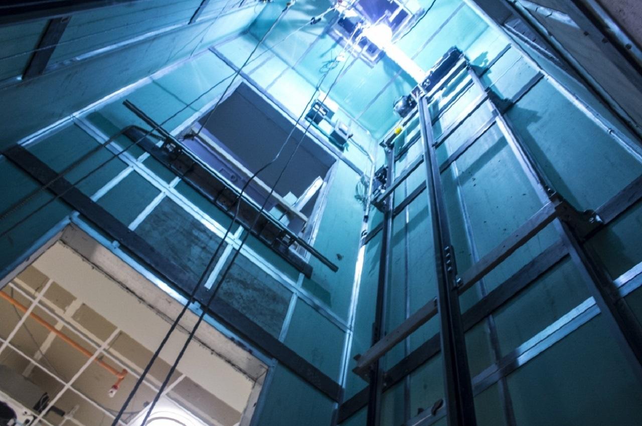 Elevator shaft inside