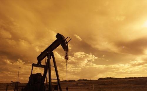 Oil Machinery in a Barren Land