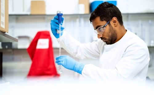 pharmaceutical scientist in laboratory