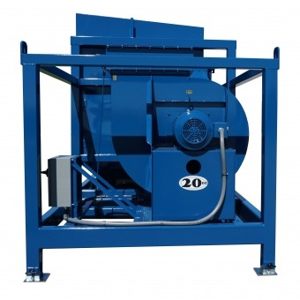 Blue Stationary Dust Collector