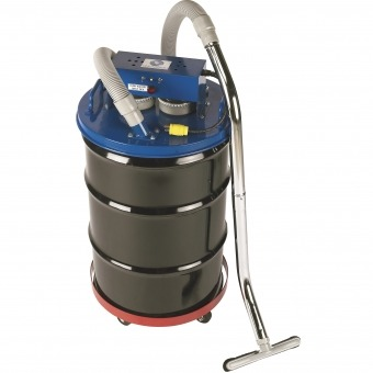 Inline Dust Collector : Twin electric drum top with standard dual filtration and a