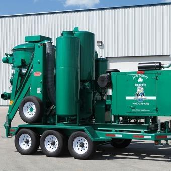 green Hurricane 828 Trailer-Mounted Vacuum