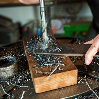 Drilling into a Piece of Wood