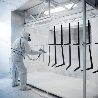 Powder Coating in Paint Room