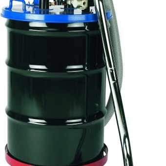 Inline Dust Collector : Single air pneumatic drum top with standard filtration and