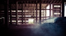 warehouse with dust
