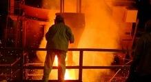 Man Working in Steel Mill/Foundry