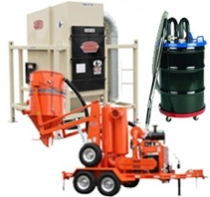 Silica dust removal products