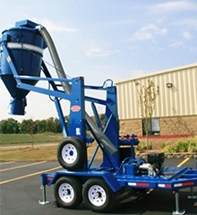 Cyclone Trailer industrial vacuum
