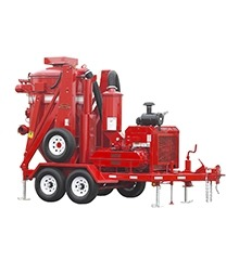 red Hurricane 600 Trailer-Mounted Vacuum